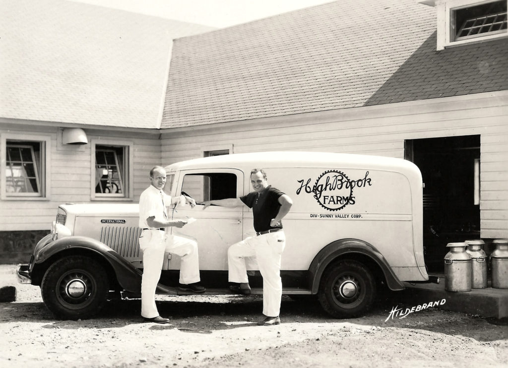 Milk delivery truck mid 50s